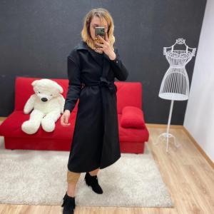 Cappotto lungo in panno black