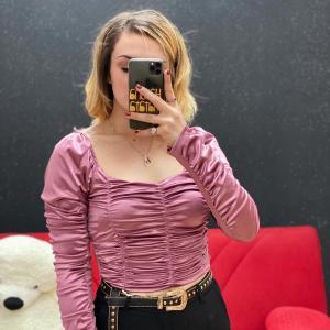 Top Diana in raso rosa