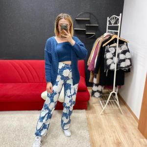 Jeans candegginato blu