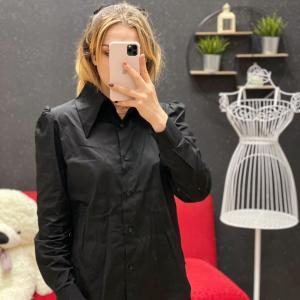 Camicia con maxy colletto black