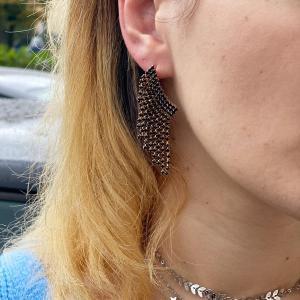 orecchini ali Black