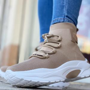 Sneakers platform beige