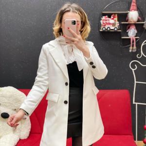 Cappotto in panno white
