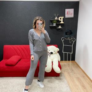 Completo tuta in lana catia grigio