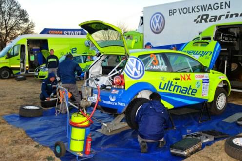 2010 Osram Rally: BP Volkswagen Racing service area
