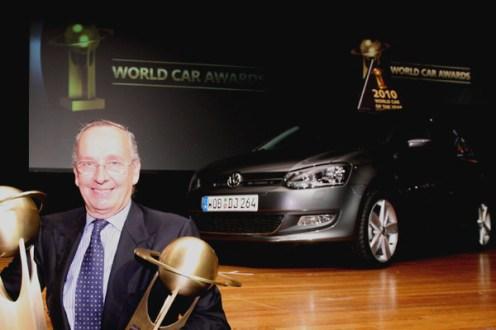 Walter de Silva, Head of Design at the VW Group celebrates victory