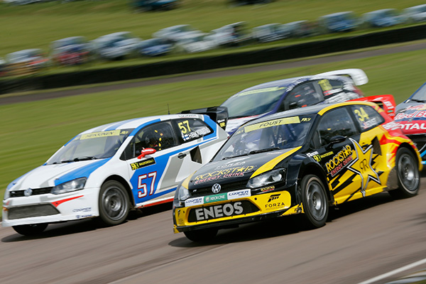 2014 FIA World Rallycross Championship, Great Britain: Heikkinen and Foust