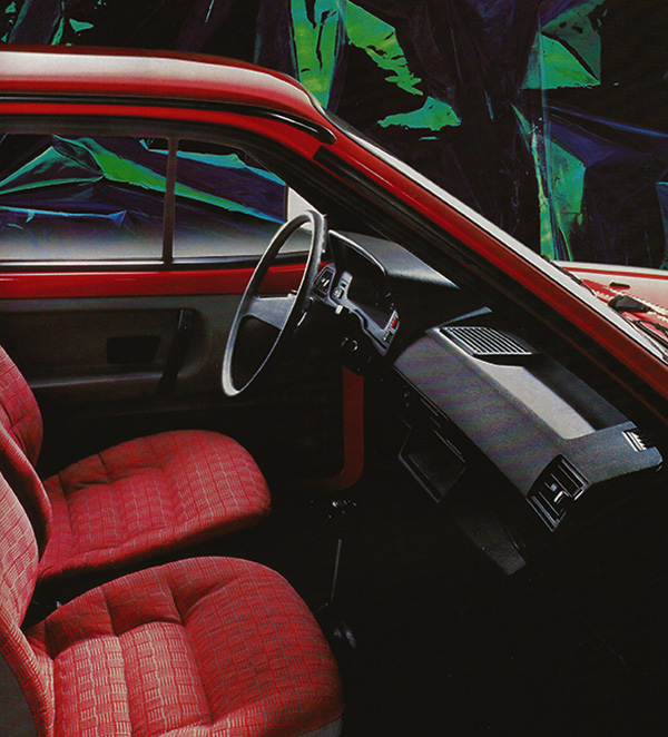 1985 Volkswagen Polo Fox interior