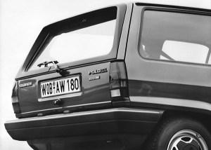 1981 Volkswagen Polo C Formel E featured a rear window spoiler to improve aerodynamics