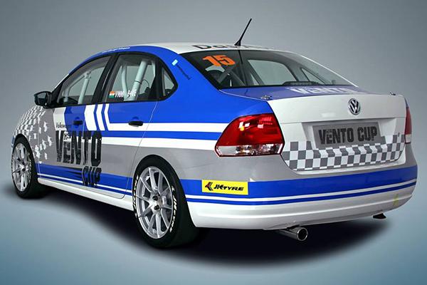 2015 Volkswagen Vento Cup race car