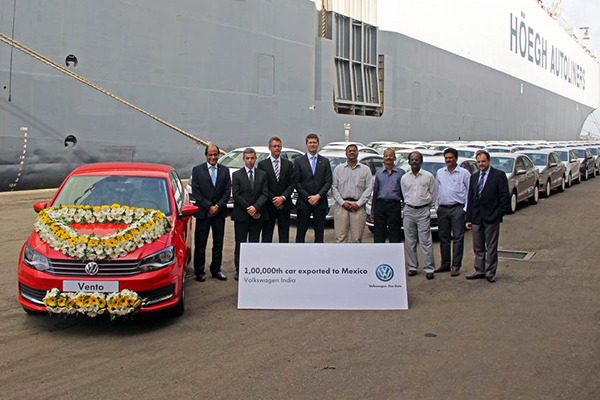Volkswagen Vento is 100,000th car exported to Mexico by Volkswagen India