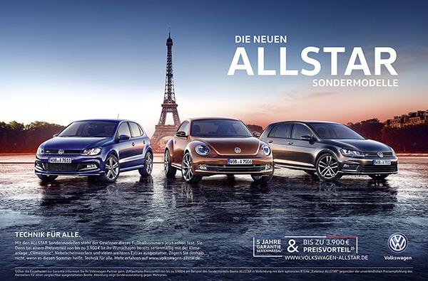 2015 Volkswagen Allstar range