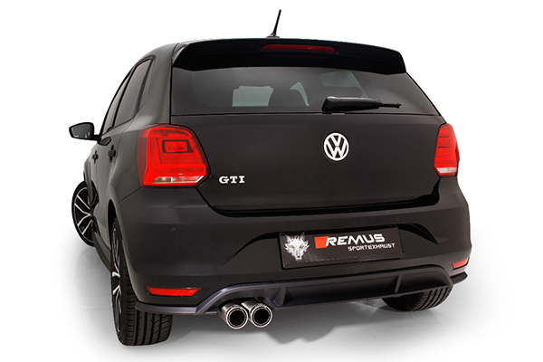 Volkswagen Polo GTI 1.8 TSI Remus performance exhaust system upgrade