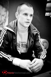 polski bokser w UK