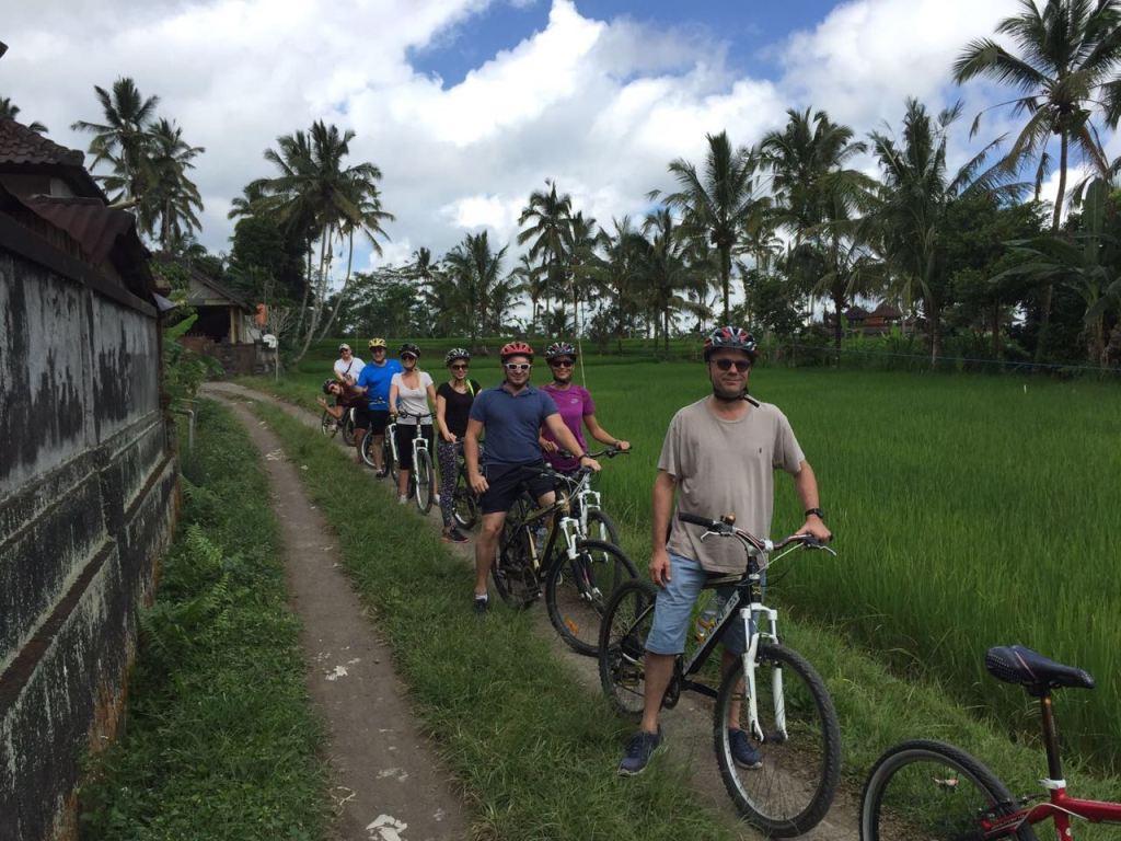 Crew on bikes!