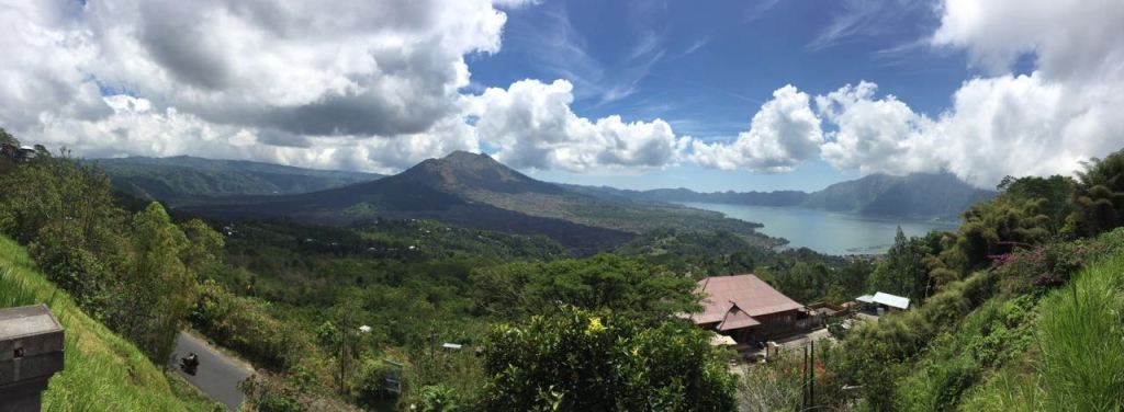 Views of the Batur volcano and the great lake