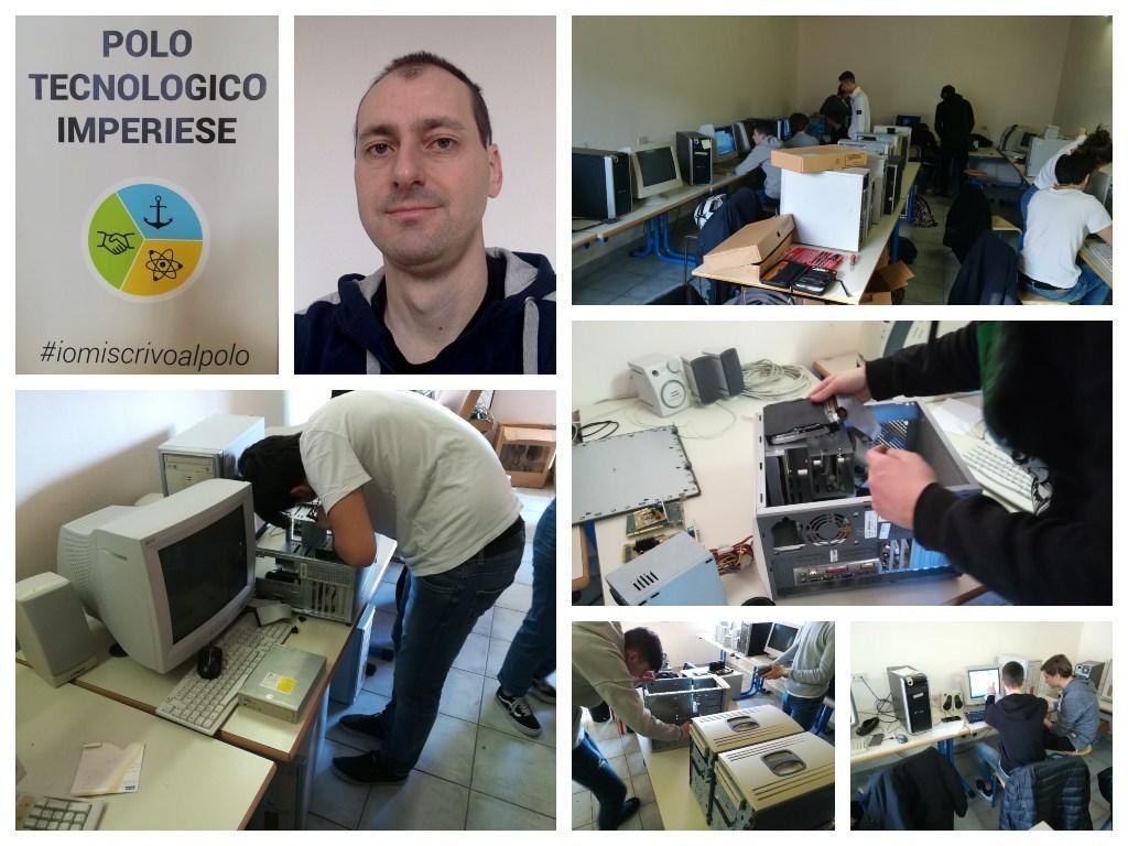 """Imperia: grazie al progetto """"Service Learning"""" alcuni studenti dell'ITIS hanno rimesso in funzione l'aula di informatica della scuola di Castelvecchio"""