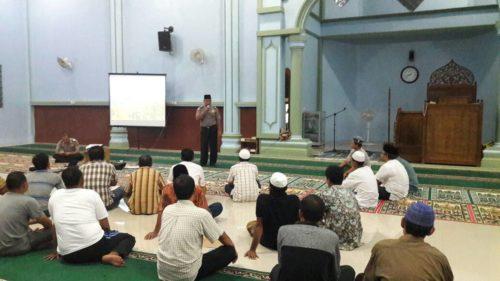 Ayo Kita Selamatkan Hutan Dan Lahan Dengan Cara Tidak Membakarnya, Ini Pesan Polisi Saat Penyuluhan di Masjid At-Taqwa Pulau Rengas