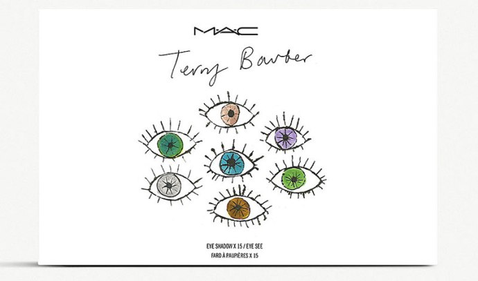 Palette Mac X Terry Barber packaging