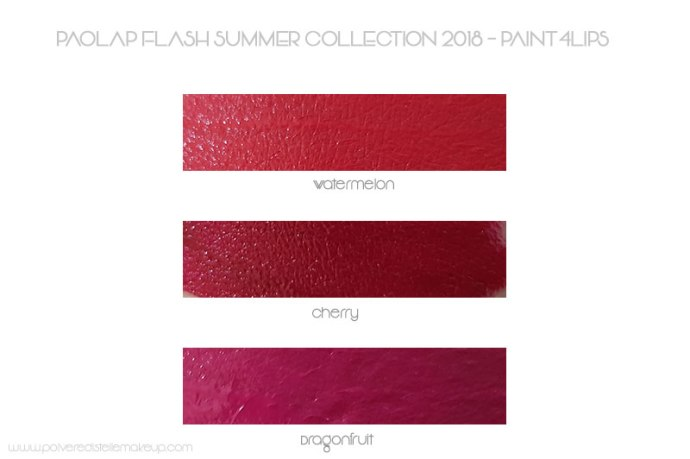 Paint4Lipst Flash Summer PaolaP Swatches