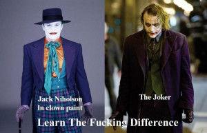 Jack Nicholson vs Heath Ledger