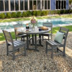 Polywood Lakeside 5 Piece Side Chair Dining Set Lakeside Collection Polywood Outdoor Furniture Collections