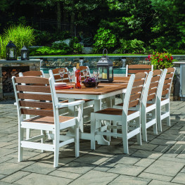 buy polywood poly lumber dining sets