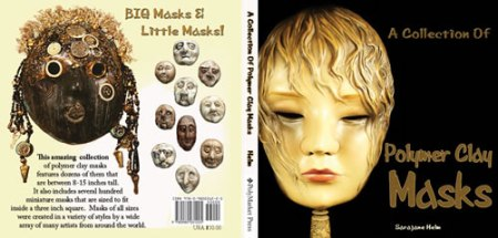 A Collection of Polymer Clay Masks book cover made in Adobe Illustrator