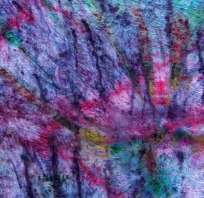 freeform dyed fabric