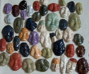 ceramic face cabochons