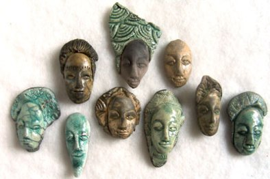 ceramic face cabochons