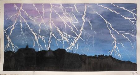 watercolor lightning