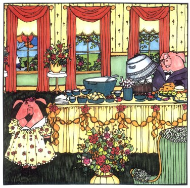 little pigs illustrations by Sarajane Helm