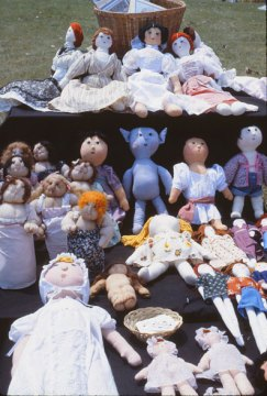 early cloth dolls by Sarajane Helm