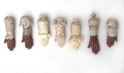 polymer clay hand pendants