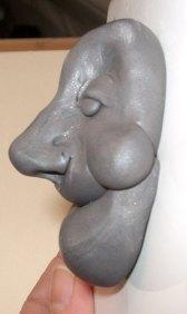 make a polymer clay face