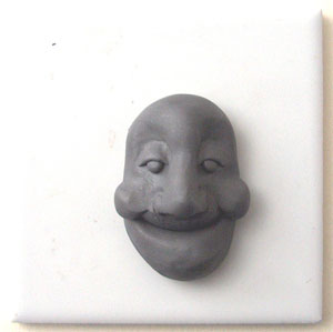 make a polymer clay face