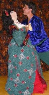 Nick Baldasare with cloth doll actress