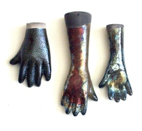 slip cast ceramic raku hand beads