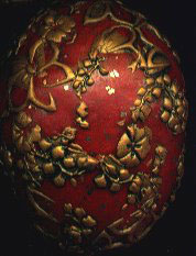 polymer clay filigree covered egg