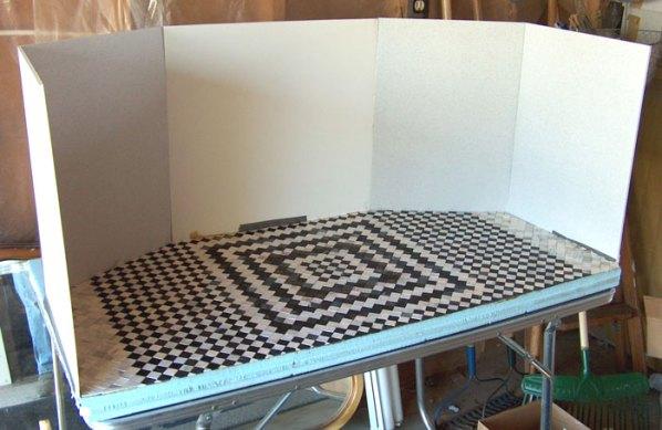 miniature polymer clay tile floor