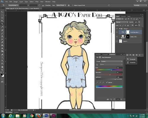 how to digitally color paper dolls