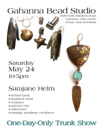 metal etching class and trunk show