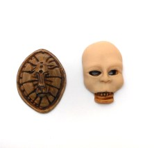 miniature polymer clay masks