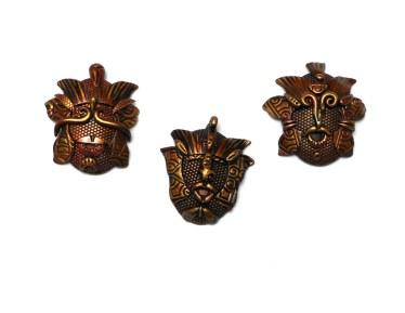 Randee M. Ketzel miniature polymer clay masks