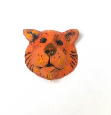 Oberson miniature polymer clay masks