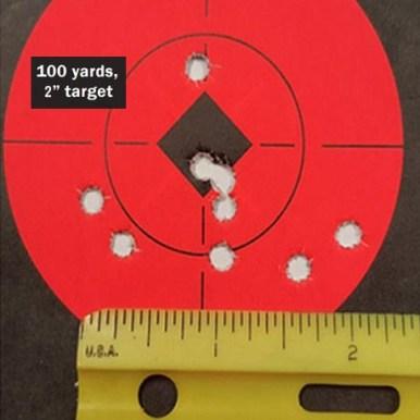 PolyFrang .223 / 5.56 mm - 100 Yard Target 2 inch
