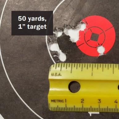 PolyFrang .223 / 5.56 mm - 50 Yard Target 1 inch