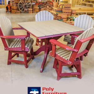 Amish Made Dining Height Table & 4 Chairs Set
