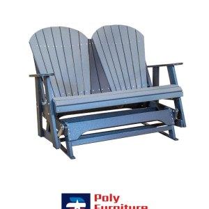 Poly Furniture USA - 4ft Glider, Slate on Black